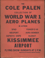 Broadside Advertising Cole Palen's WWI Aircraft Flying Exhibition