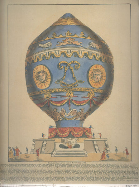 Limited Edition Print of the Montgolfier 1783 Ascension from the Gimbel Collection