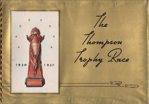 Thompson Trophy Race Presentation Folio - 1937