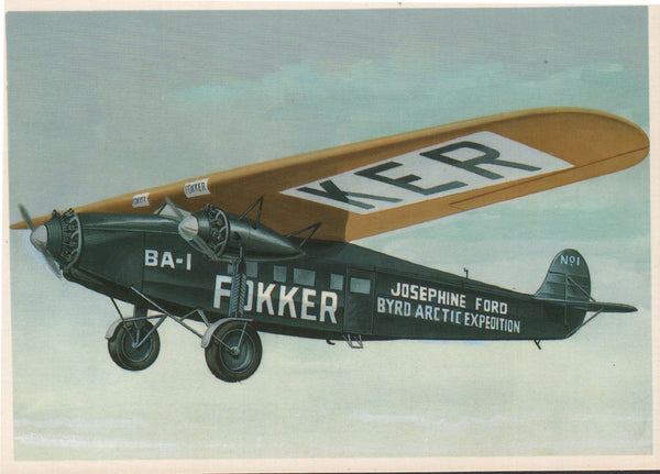 Postcard of Fokker Painting by John Batchelor