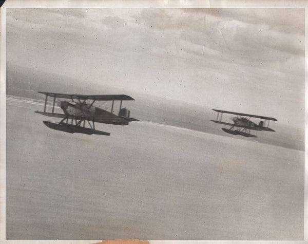 Two Large Historic Photos of Douglas World Cruisers In-Flight - circa 1924