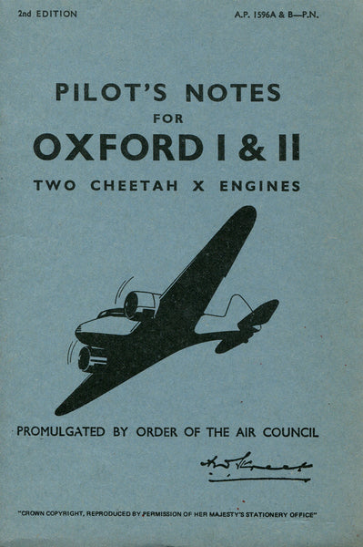 Oxford I and II Pilot's Notes - Facsimile Reprint