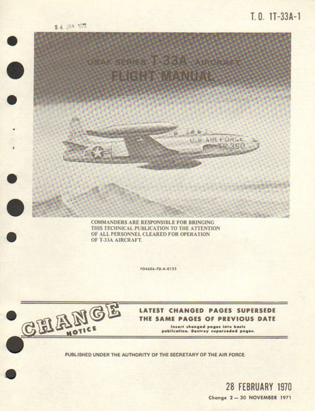 T-33 Flight Manual - 1970