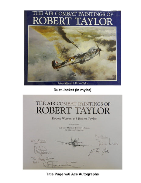Six Ace Autographs in Robert Taylor Folio