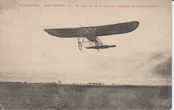 French Postcard - Bleriot School at Pau 1910