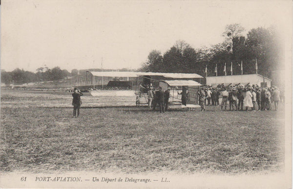 French Postcard - Delagrange Takeoff circa 1910