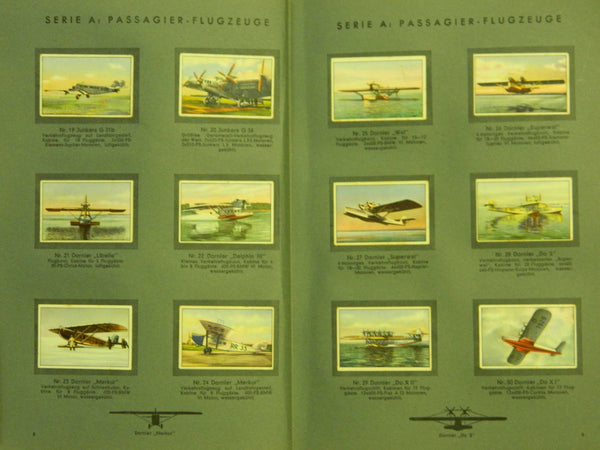 German Cigarette Card Album - ca. 1937
