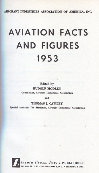 Aviation Facts and Figures 1953