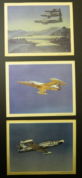 Set of 7 Official Lockheed Color Aircraft Prints