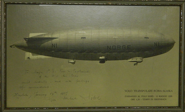 Airship NORGE Photo Signed by Umberto Nobile