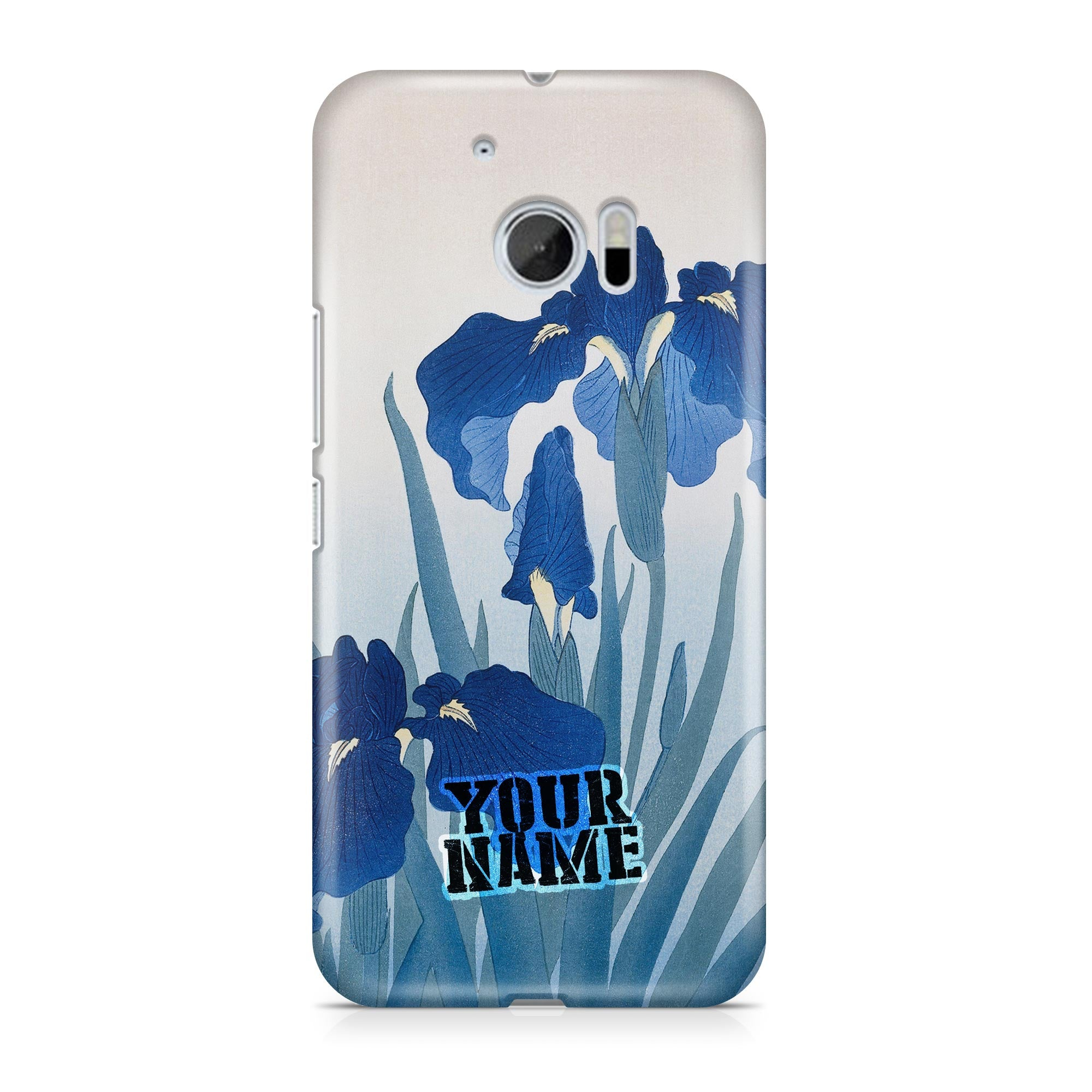 Blue Flower Art Japanese Wall Hard Phone Cases Cover