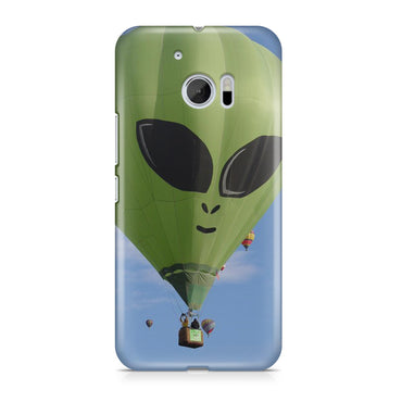 Hot Air Green Balloon Alien Clouds Phone Case Cover