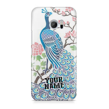 Peacocks Beautiful Blue Birds Flowers Garden Tree Phone Cases Cover