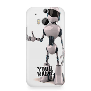 Simple AI Robot Future Handshake Phone Case Cover for Samsung X Phone