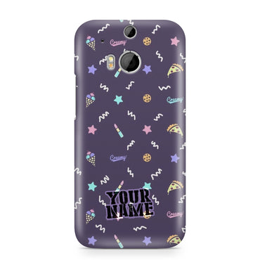 Pizza Lip-Stick Ice-Cream Star Pattern Phone Case Cover