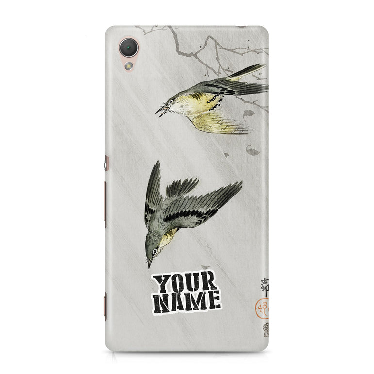Twin Birds Black and Grey Art Tree Japanese Phone Cases Cover