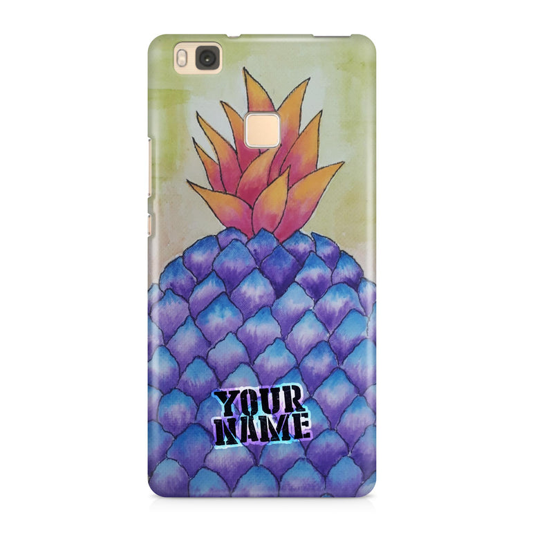 Blue Pineapple Art Painting Wall hard Phone Cases Cover