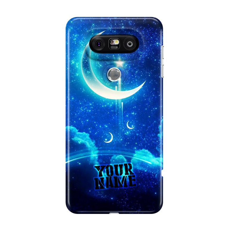 Blue Moon Night Time Cloud Star Phone Cases Cover