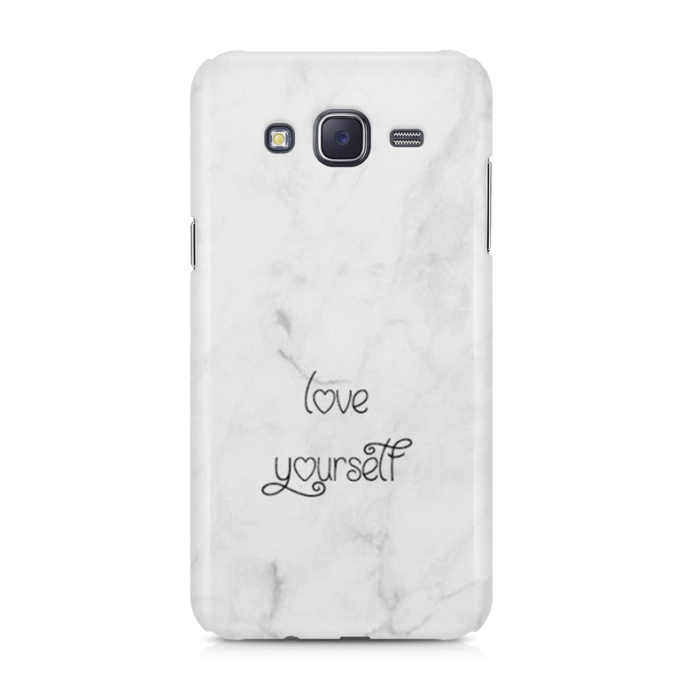 Marble White Love Yourself Valentine Day Phone Case Cover