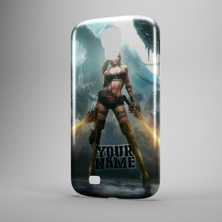 Light Saber Babe X Rated Star Fighter in Wars Phone Case with Hard Cover