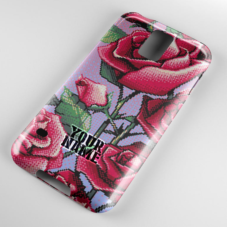 Red Roses Retro 8-bits Colors  Phone Cases Cover
