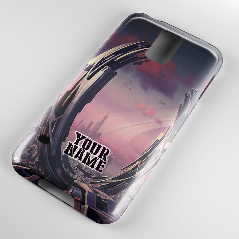 Sci-Fi Building Unknown Planet City UFO Alien Phone Case Cover