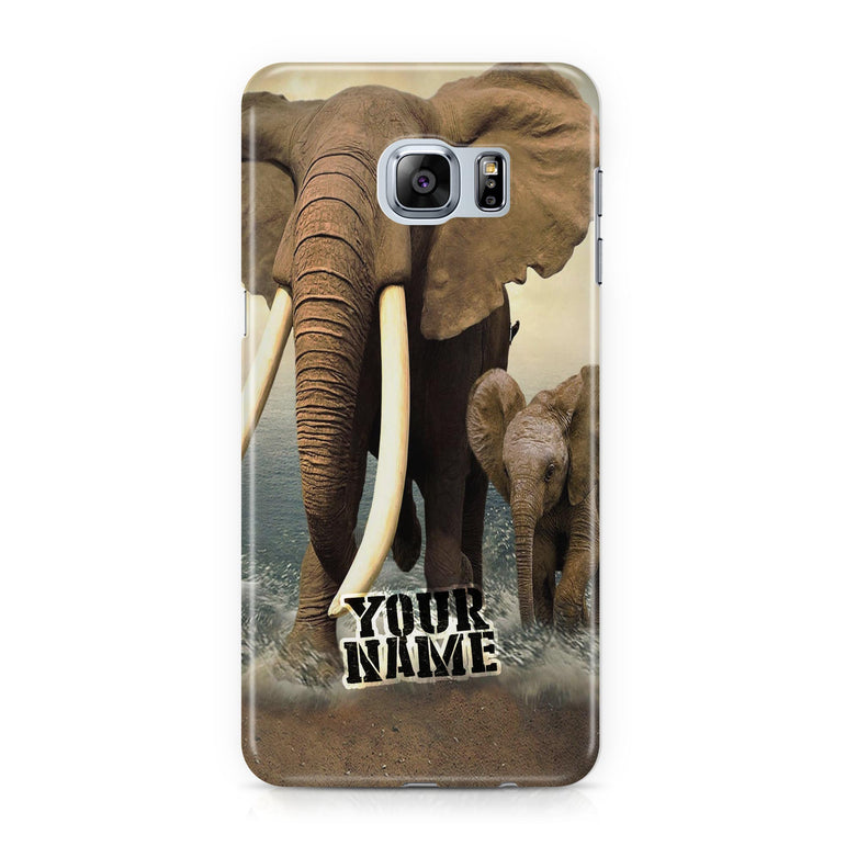 Indian Elephant Awesome Tusks with Baby Child Phone Case Shockproof Covers CAses