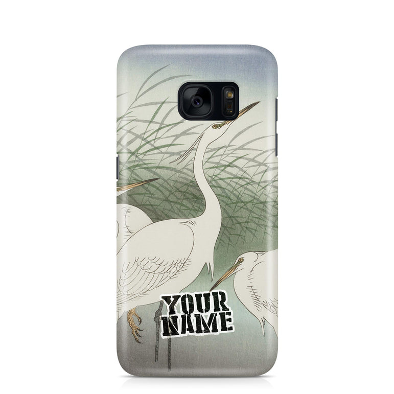 White Crane Japanese Art Phone Cases Cover