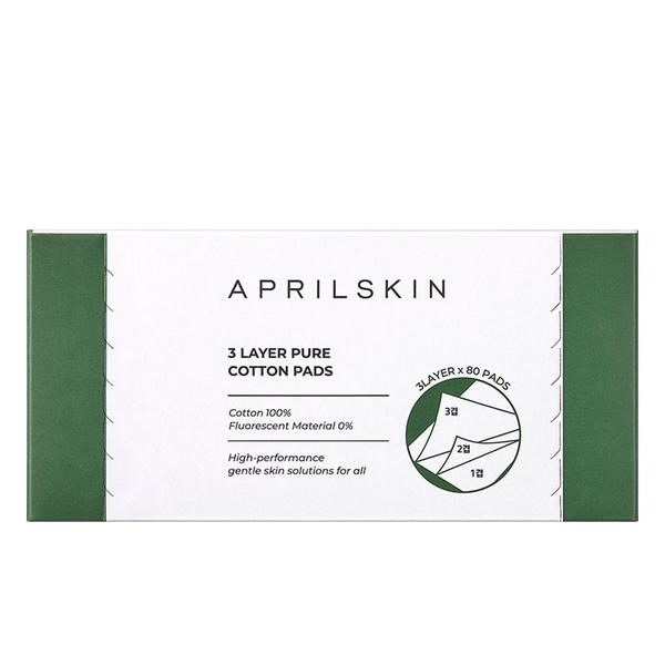 Aprilskin 3-Layer Pure Cotton Pads - aprilskin.com.sg