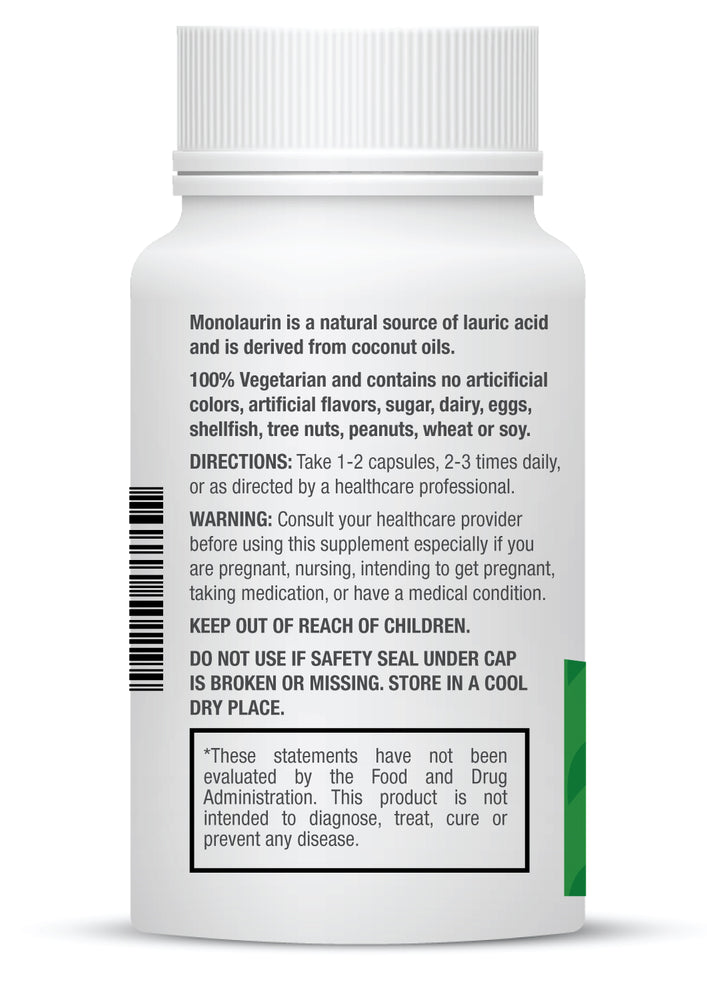 Monolaurin-625mg Capsules for Immune Support