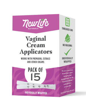 Disposable Vaginal Cream Applicators-15 Pack- With Dosage Markings- Fits Premarin, Estrace, and Other Gels and Creams