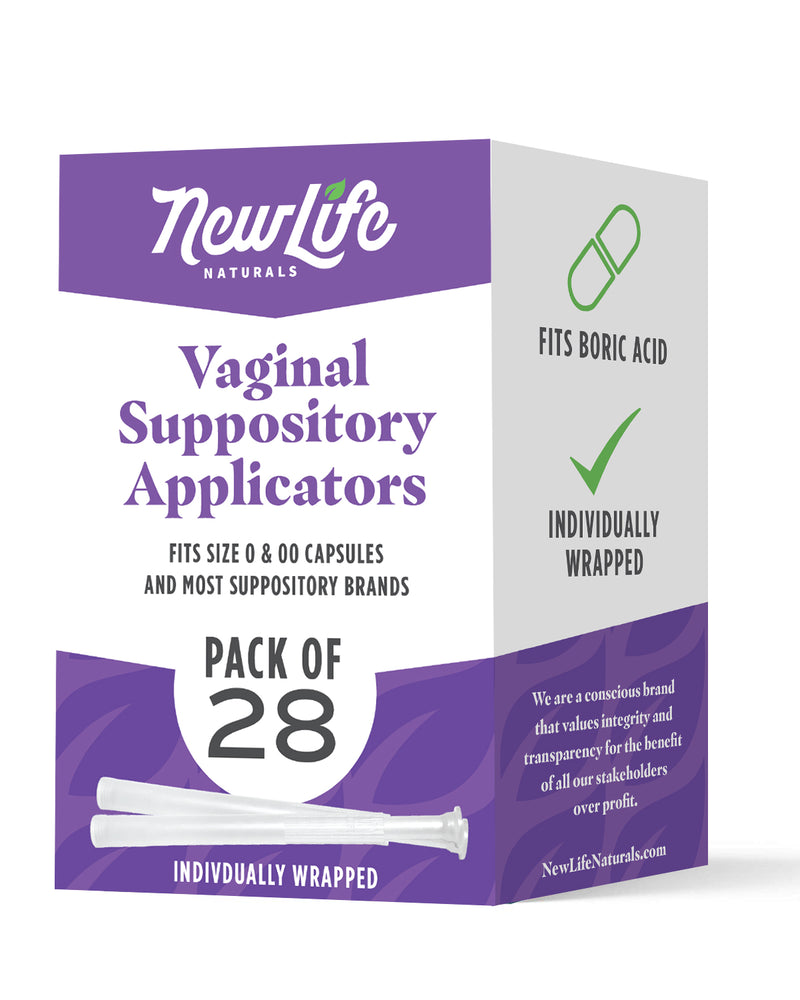 Disposable Vaginal Suppository Applicators-28 Pack- Works with Boric Acid Suppositories/Capsules