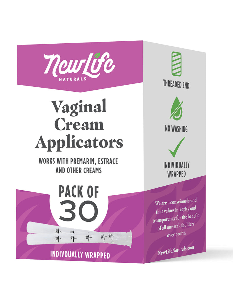 Disposable Vaginal Cream Applicators-30 Pack- With Dosage Markings- Fits Premarin, Estrace, and Other Gels and Creams