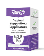 Disposable Vaginal Suppository Applicators-16 Pack- Works with Boric Acid Suppositories/Capsules