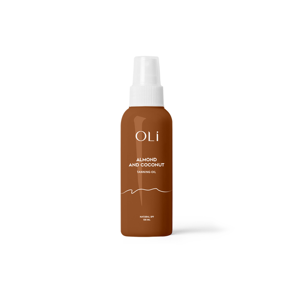 Oli Premium Natural Tanning oil, Almond and coconut oli tanning oli, Natural SPF