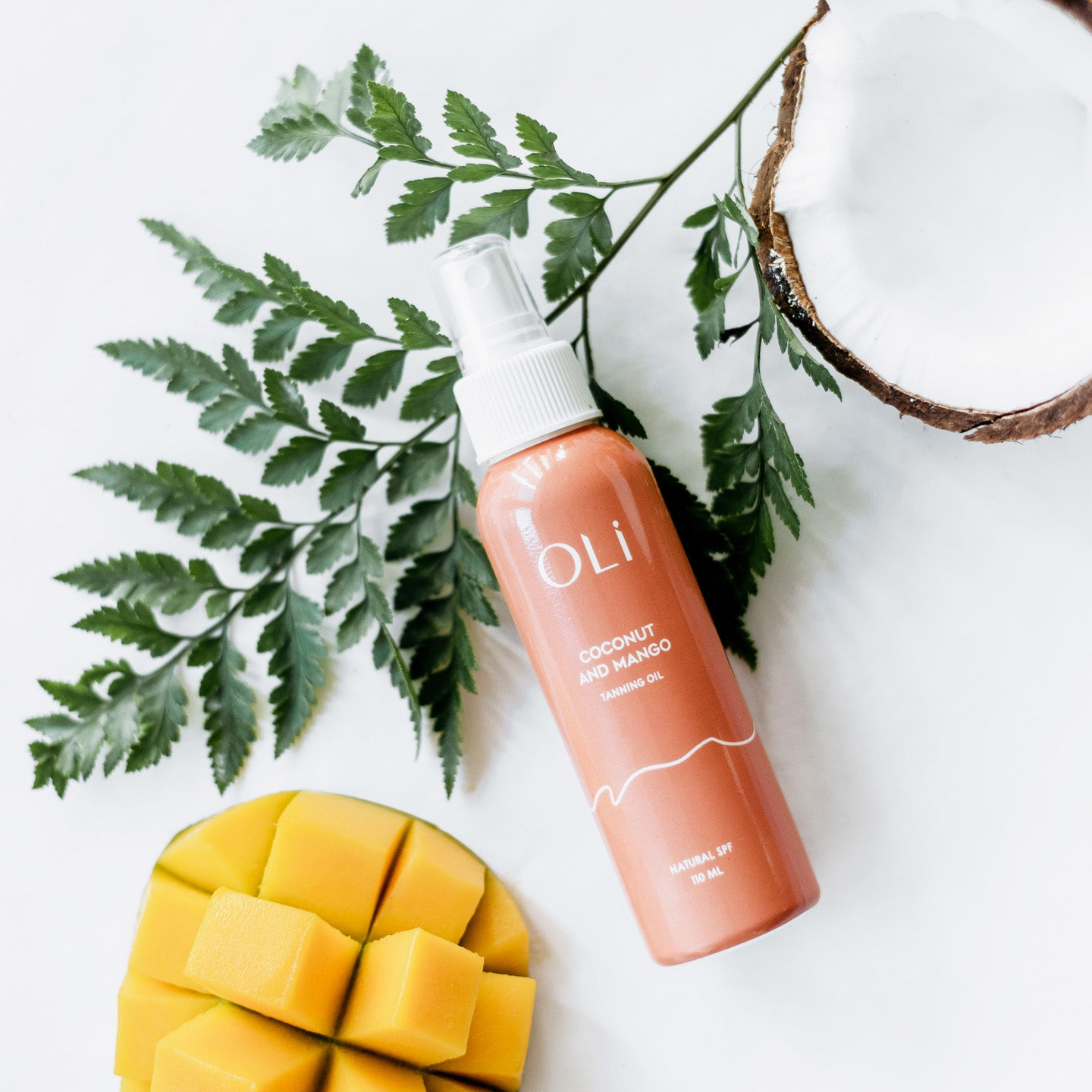 Oli Premium Natural Tanning oil, Coconut and Mango oli tanning oli, Natural SPF