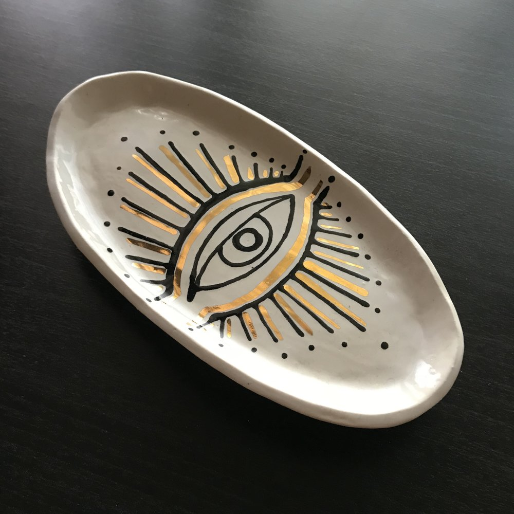 All-Seeing Eye Sage Tray/ Jewelry Dish