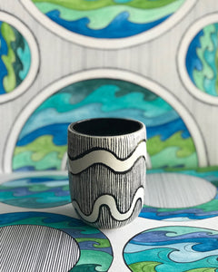 Wave Mini Pot/ Cup
