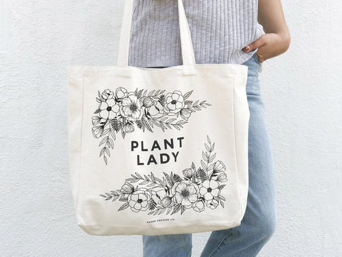Plant Lady Canvas Tote Bag
