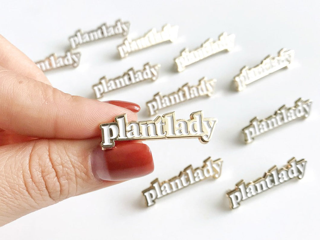 Plant Lady Enamel Lapel Pin