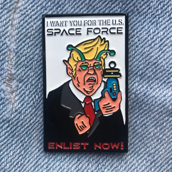 Space Force Enlistment Pin