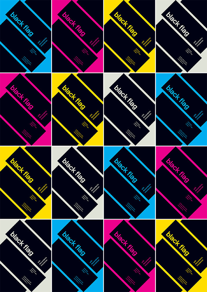 cyan, magenta, yellow, black flag