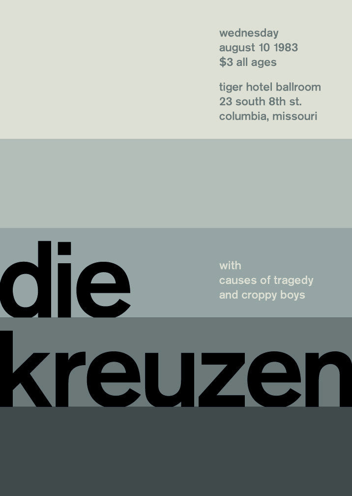 die kreuzen at tiger hotel ballroom, 1983