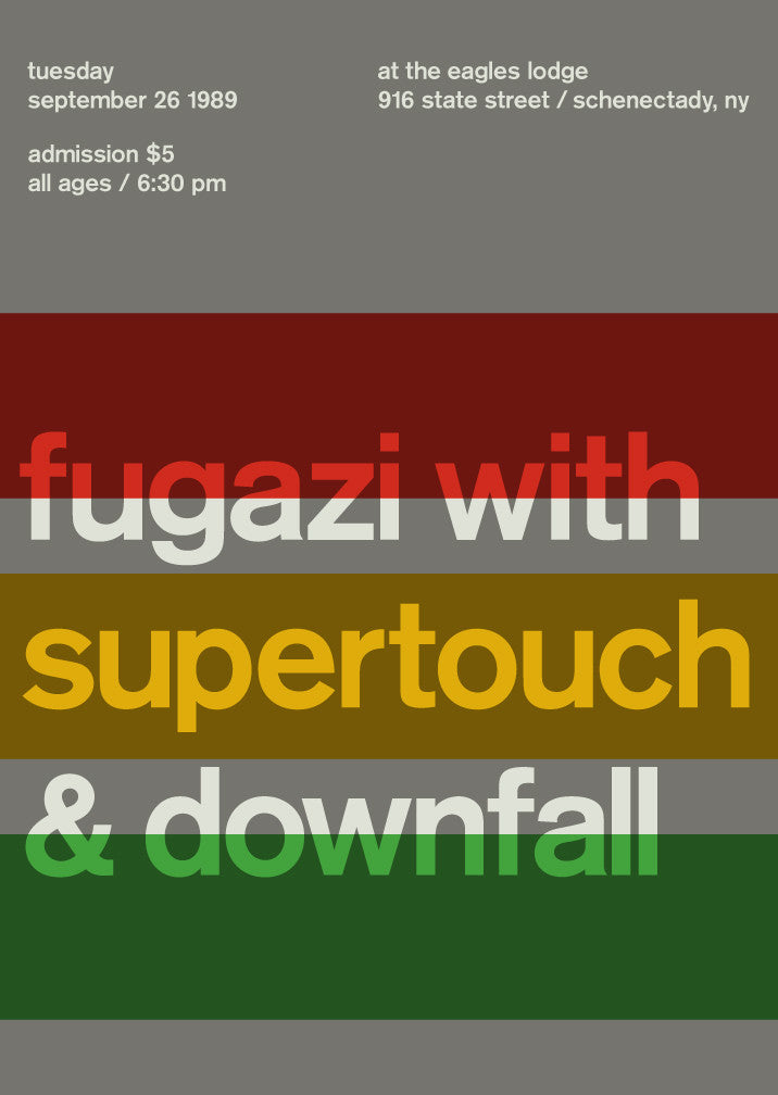 fugazi with supertouch & downfall, 1989
