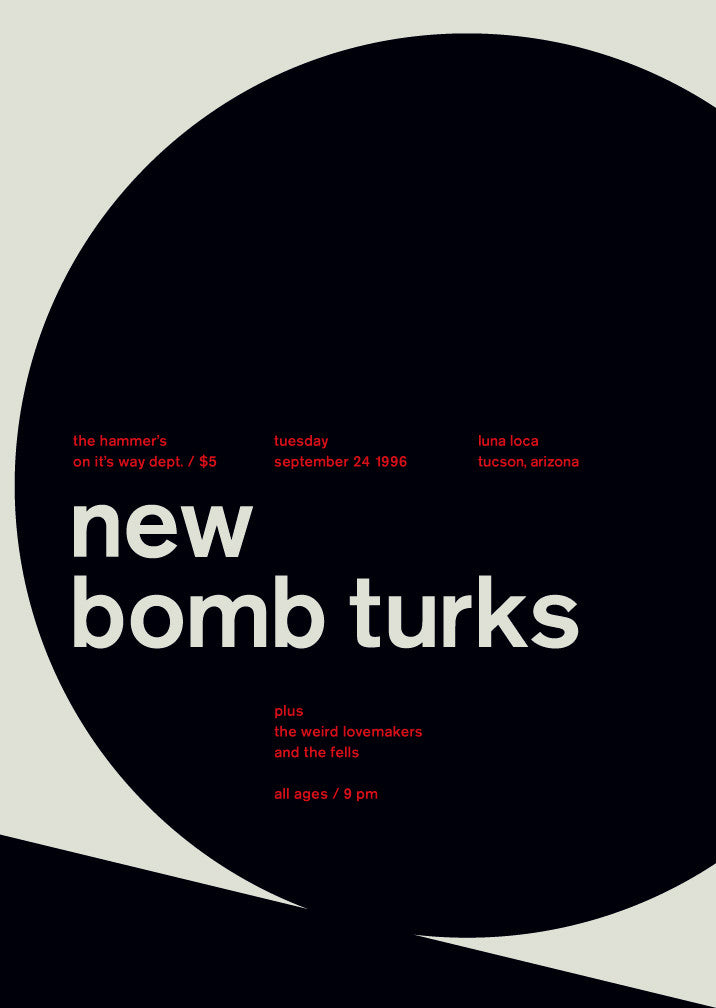 new bomb turks at luna loca, 1996