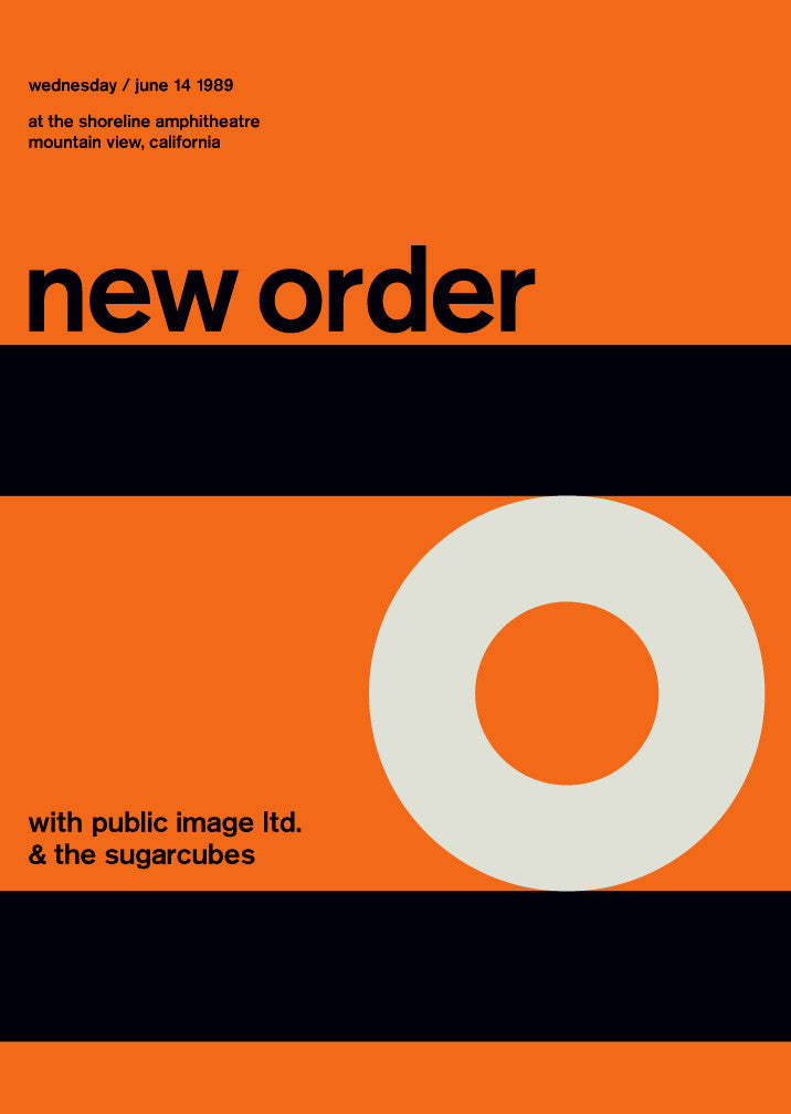 new order at shoreline amphitheatre, 1989