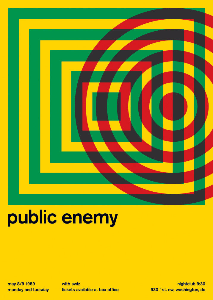 public enemy at nightclub 9:30, 1989