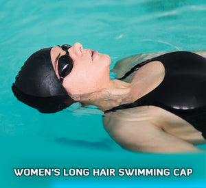 Women's long hair swimming cap. Features and benefits of wearing one