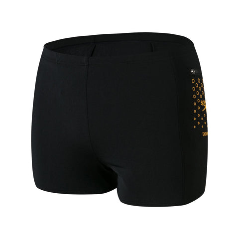 Speedo Pocket Aquashort Mens Black/Mango