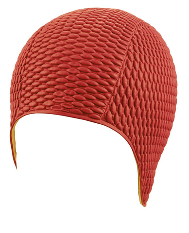 Beco Womens Latex Bubble Cap Red - clickswim.co.nz